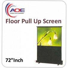 Floor Pull Up Screen 72 Inch