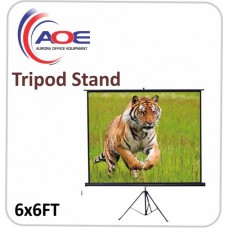 Tripod Screen Matte White 6x6FT