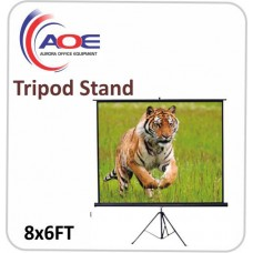 Tripod Screen Matte White 8x6FT